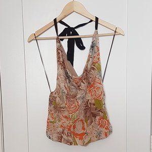 2/$20 - 100% Silk Floral Halter Top